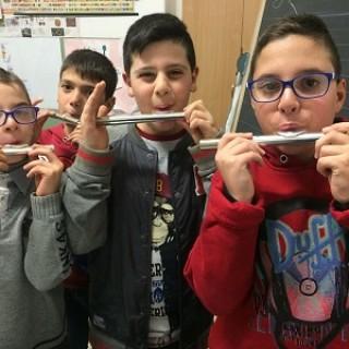 prime lezioni di flauto traverso alla scuola Di Bartolo