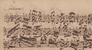 manoscritto BWV 1001 - siciliana